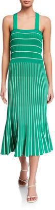 Alexis Bess Striped Sleeveless Long Dress