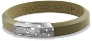 David Yurman Fused Meteorite Id Rubber Bracelet In Green