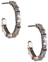 CZ by Kenneth Jay Lane - Baguette Diamond Simulant Mini Hoops