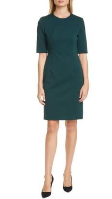 BOSS Daxine Textured Sheath Dress