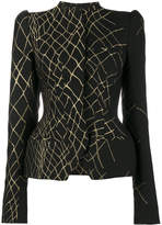 Haider Ackermann 3D jacquard fitted hourglass jacket