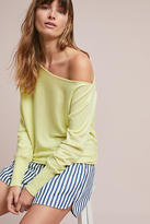 Moth Draped Off-The-Shoulder Pullover