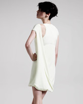 Cushnie et Ochs Drape-Front Cap-Sleeve Dress