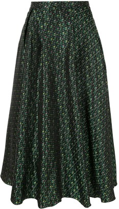 Rochas Patterned Midi Skirt