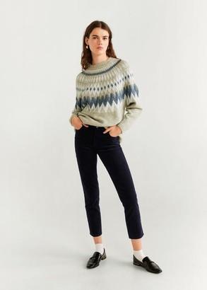 MANGO Corduroy slim-fit pants beige - 2 - Women