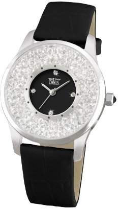 Swarovski Davis Fashion Ladies Black Elegant Watch with crystal