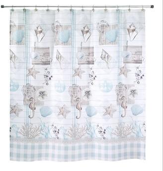 Avanti Coastal Farmhouse Shell Shower Curtain