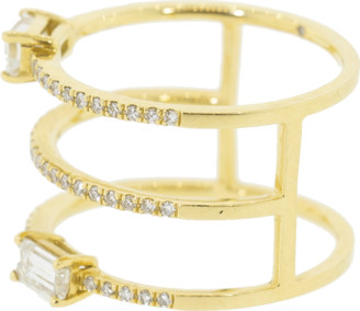Shay Jewelry Stacked Pave Double Baguette Ring
