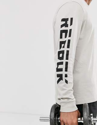 Reebok meet you there long sleeve top in grey