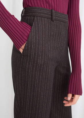 And other stories Wool Blend Pin Stripe Trousers