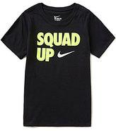 Nike Big Boys 8-20 Squad Up Short-Sleeve Tee