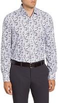 Emanuel Berg Regular Fit Floral Button-Up Oxford Shirt