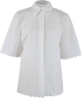 Stella McCartney Blouse with Square Embroidery