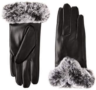 BCBGMAXAZRIA Women's Faux Fur Cuff Glove