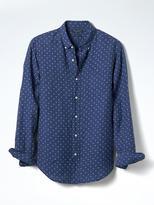 Banana Republic Camden-fit Linen Circle Print Shirt