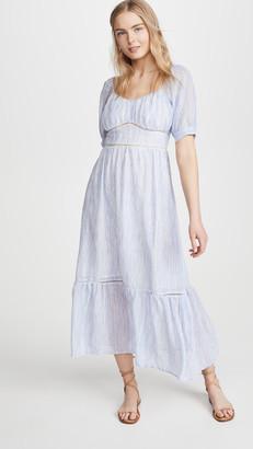 Moon River Scoop Neck Midi Dress