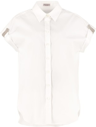 Brunello Cucinelli Cotton Blend Short Sleeves Shirt