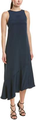 Tibi Ruffle Silk Maxi Dress