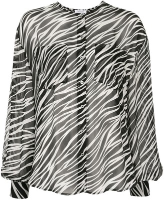 Anine Bing Arrow silk zebra print blouse