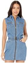 Bardot Donatella Denim Dress (Dark Wash) Women's Clothing