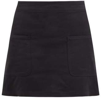 Holiday Boileau Cotton-twill Mini Skirt - Womens - Navy