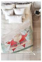 "Deny Designs Red Novelty Cori Dantini Joyous Holiday Wishes Sherpa Throw Blanket (50""X60"