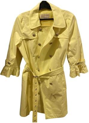 Michael Kors Yellow Cotton Trench Coat for Women