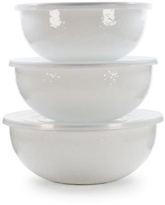 Pottery Barn Enamel Mixing Bowls, Set of Three