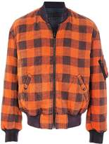 R 13 checked bomber jacket