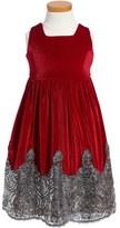 Isabel Garreton Sequin Velvet Dress (Toddler Girls)