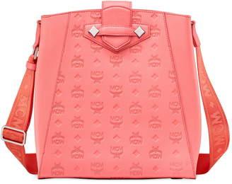 MCM Small Essential Monogram Leather Bucket Bag