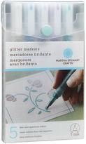 Martha Stewart Glitter Markers 4/pkgcool Spectrum