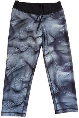 Puma Grey Cotton Trousers for Women