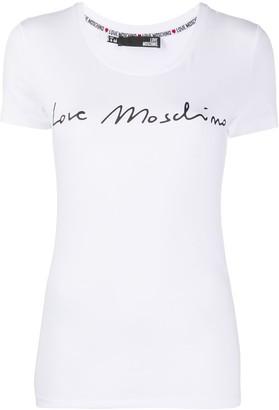 Love Moschino logo-print crew-neck T-shirt