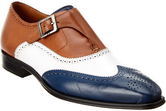 Mezlan Gianni Single Monk Strap Leather Loafer