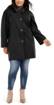 London Fog Plus Size Raglan-Sleeve Raincoat