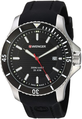 Wenger Men's Seaforce Stainless-Steel Swiss-Quartz Watch with Silicone Strap