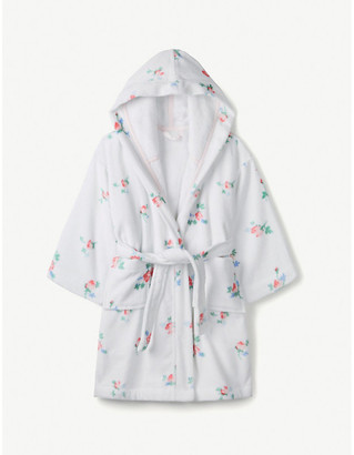 The Little White Company Floral cotton robe 1-6 years
