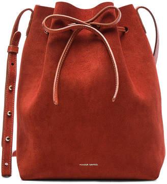 Mansur Gavriel Bucket Bag in Brick Suede | FWRD