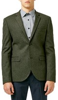 Topman Men's Two-Button Skinny Fit Jersey Blazer
