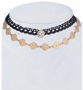 Gottex Plated Set Of 2 Choker Necklaces.