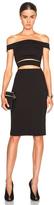 Nicholas Ponti Off Shoulder Strap Dress in Black.