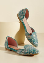 ModCloth Well-Stepped Flat in Lagoon in 6.5
