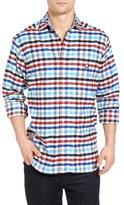 Psycho Bunny Men's Slim Fit Check Flannel Woven Shirt