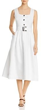 Lafayette 148 New York Chris Belted Midi Dress