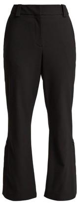 Proenza Schouler Kick-flare Cropped Wool-blend Trousers - Womens - Black