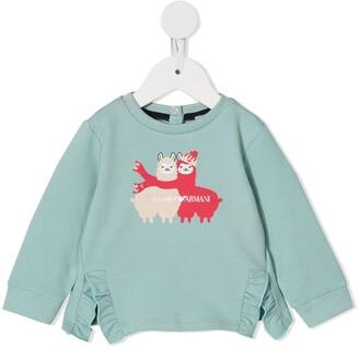 Emporio Armani Kids Llama print sweatshirt