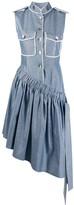 Couture Atu Body asymmetric glitter shirt dress