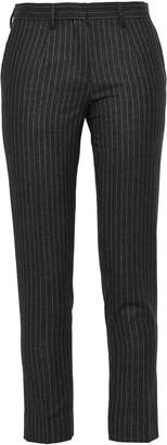 MACKINTOSH Cropped Pinstriped Wool And Cashmere-blend Slim-leg Pants