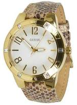 GUESS W0214L1 Women's Animal Pattern Leather Bracelet With White Analog Dial NWT